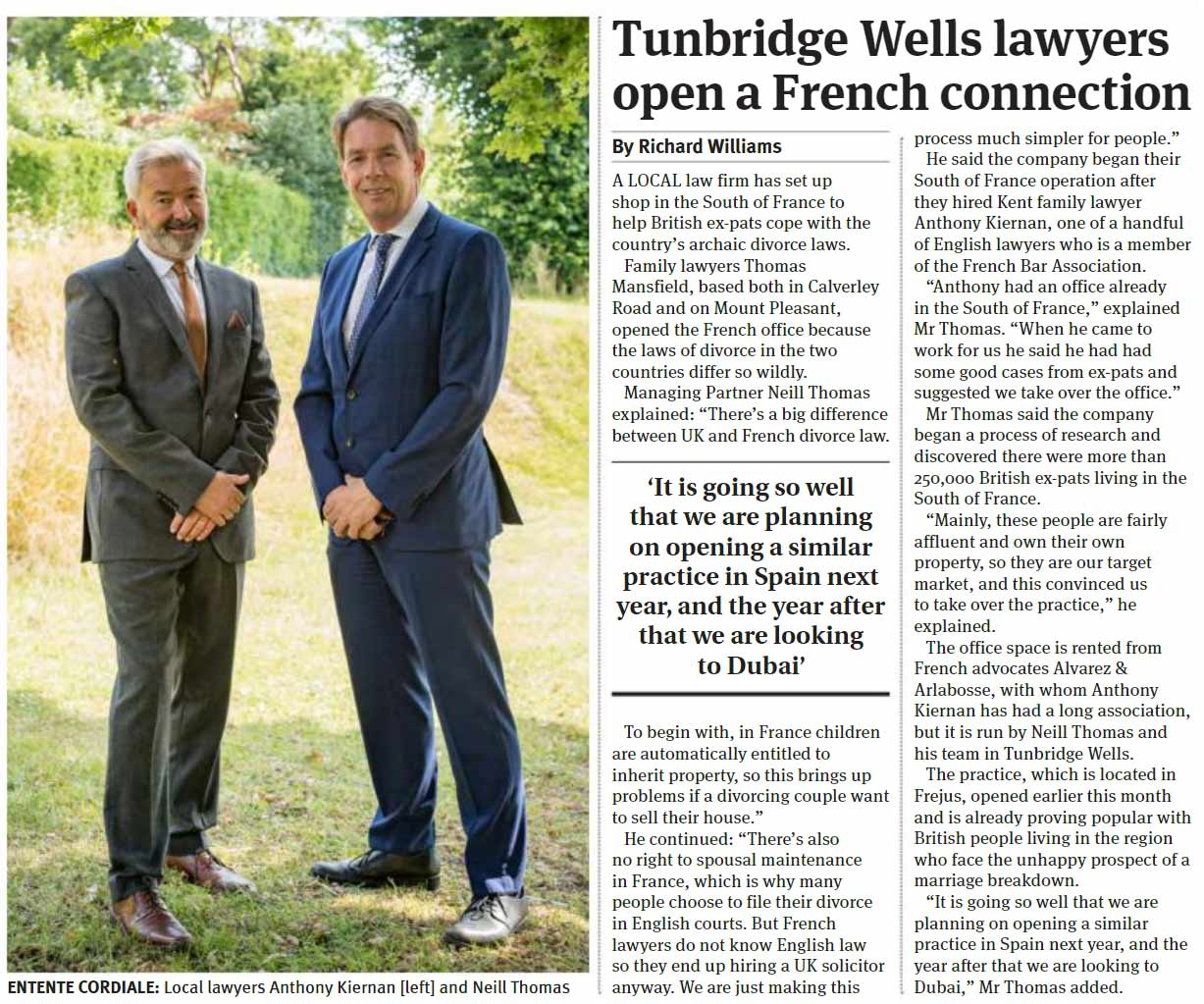 Tubridge Wells Lawyers Open A French Connection Times Of Tunbridge Wells 24th July 2019